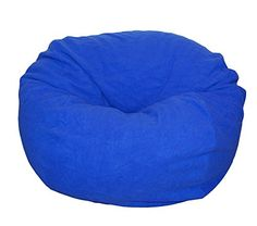 Ahh Products Blue AntiPill Fleece Washable Large Bean Bag Chair * Want to know more, click on the image.
