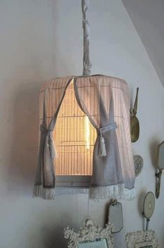 draped cage