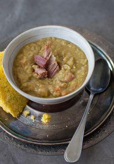 Slow Cooker Split Pea Soup with Ham | Simple Bites