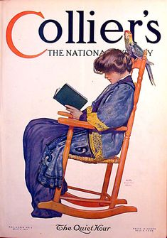 "The Quiet Hour. Collier's Magazine Cover, May 4, 1907.  ""All men's miseries derive from not being able to sit in a quiet room alone."" — Blaise Pascal"