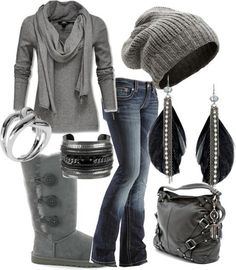 I love everything about this. Super casual!  Some days call for comfy UGGs rather than dressy heels!