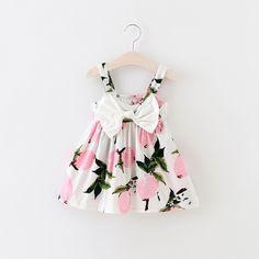 Pink Fruit Pattern Dress