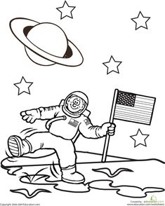 Outer Space Coloring Page | Outer space, Worksheets and Spaces