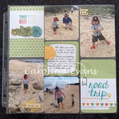 """Project Life by Stampin' Up!  """"Marco at the Beach"""" Love all the new products - gets your via my online store, click the links through my blog www.studioevans.blogspot.com.au"""