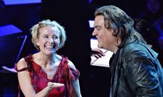 Emma Thompson, left, and Bryn Terfel as Mrs Lovett and Sweeney Todd respectively. Thompson will do five performances. Photograph: Mike Coppola/Getty Images