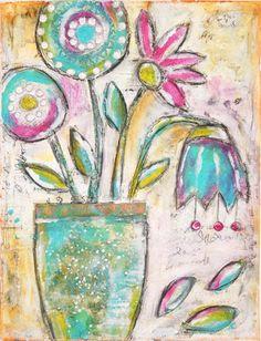 Inky Dinky Doodle: LifeBook week #34: Whimsy Flowers with Roben-Marie