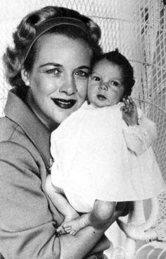 Kay Gable holding baby John Clark Gable