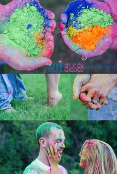 paint session, http://www.laurieendsley.com/, powder paint, engagement, texas, stylized,