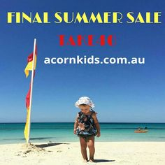 40% off current season summer starts now  TAKE40 is the code to enter at the checkout at www.acornkids.com.au.... enjoy!! #acornkids #kidshats #sale #kidssale