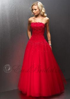 strapless beaded lace ruched full net wedding dress, red wedding dress