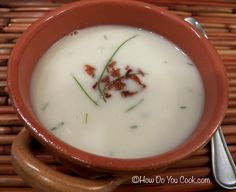 Irish Cream of Potato Soup with Bacon and Chives