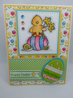 Easter Egg Chick II  Handmade Card by creationsbywendalyn on Etsy, $7.00