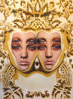 "Alex Garant ""Her oil paintings offer a graphic quality combined with traditional portrait techniques. Garant finds inspiration in early ink printing, vintage pop surrealism, baroque tapestries and retro kitsch. A Level Art Themes, Alex Garant, Art Alevel, Painting Still Life, Portraits, Figure Painting, Oeuvre D'art, Artist At Work, Art Inspo"