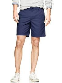 navy flat front cargo shorts