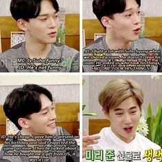 Rapid roast ️  Suho's face as he tries to explain it is hilarious. << IT WAS A CUP