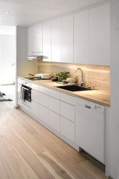 White Gloss Kitchen With Grey