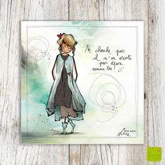 Ne cherche pas ... il n'y en a pas deux comme toi! - Carte postale illustrée par Myra Vienne - www.editionsdecortil.com Art Et Illustration, Illustrations, Sketch Notes, Happy Birthday Cards, Art Sketchbook, Birthday Quotes, Good Morning, Decoupage, Doodles