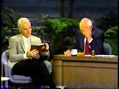 Steve Martin @ The Tonight Show with Johnny Carson - August 1989 70s Tv Shows, Johnny Carson, Steve Martin, Tonight Show, Robin Williams, That's Entertainment, Laughter, Funny Stuff, Comedy