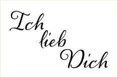 Ich lieb Dich on or or inch laser-cut stencil by PearlDesignStudio on Etsy