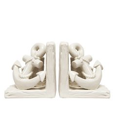 Another great find on #zulily! White Anchor Bookends #zulilyfinds