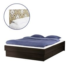 Oppdal Bed Frame With Drawers, $299