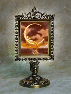 Lithophane Lamp - Mermaid & The Moon Styles  Porcelain