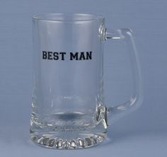 Best Man Beer Mug #theweddingoutlet