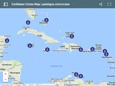 Map of Caribbean cruise ports, Caribbean islands. Activities, vacation planning tips, things to do in Nassau Bahamas, Cozumel Mexico, San Juan Puerto Rico, Grand Turk, Grand Cayman, Ocho Rios Jamaica, Dominican Republic, Key West Florida. Shore excursions, beaches, food, snorkeling. Checklist for world travel bucket list, beautiful destinations! Travel guide to see Caribbean on a budget with adventure for best tropical vacation from US! See cruise packing list, what to wear, pack for cruise!