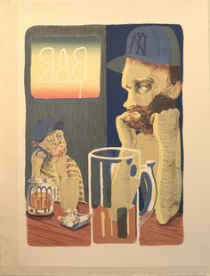 Bar    2012    9-color lithograph