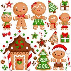 Gingerbread family Premium Vector | Premium Vector #Freepik #vector #tree #star #gift #character Christmas Drawing, Christmas Art, Christmas Ornaments, Outside Christmas Decorations, Merry Christmas Vector, Christmas Gingerbread Men, Christmas Alphabet, Christmas Printables, Xmas Cards