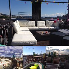 Preparing our rooftop for tomorrow in - looking forward to meet great people Zurich, Rooftop, Switzerland, Bbq, Meet, Activities, Building, People, Travel