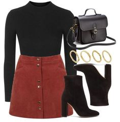 A fashion look from October 2016 by vany-alvarado featuring Topshop, Miss Selfridge, Gianvito Rossi, The Cambridge Satchel Company und Made Party Fashion, Look Fashion, Teen Fashion, Winter Fashion, Fashion Outfits, Dress Fashion, Fashion Clothes, Fashion Shoes, Fashion Weeks