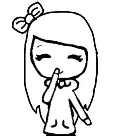 chibi you get a stencil and go onto an app called you doodle and