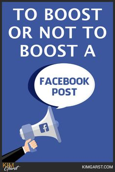 Boost or not boost? This article will teach you WHEN it's worthwhile to boost a post, so you don't throw away your hard-earned money! Using Facebook For Business, How To Use Facebook, Facebook Marketing Strategy, Social Media Marketing, Blog Websites, Things To Know, Social Networks, Business Tips, Teaching