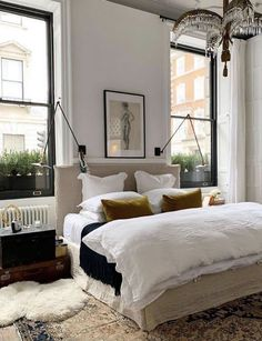 Monday Inspiration: Beautiful Rooms - Mad About The House - Home Items, Accessories & Decor - - White Bedding, Bedroom Decor, Taupe Bedroom, Home, Eclectic Bedroom, Bedroom Inspirations, Bedroom Furniture, Bedroom Design, Room