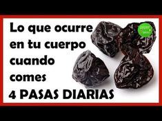 Lo que ocurre en tu cuerpo cuando comes 4 pasas diarias - YouTube Healthy Beauty, Herbal Medicine, Acne Treatment, Things To Know, Health Remedies, Blueberry, Herbalism, Health Fitness, Healthy Recipes