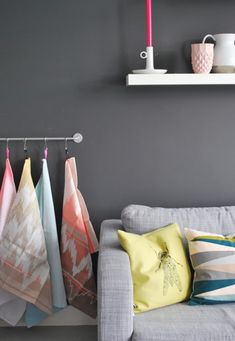 i really like this dark gray and think bright colors look great against it, but i think you probably won't