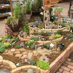 I love this idea for the kids to have in the herb garden. Farm Gardens, Outdoor Gardens, Fairy Garden Houses, Garden Landscape Design, Garden Seating, Succulents Garden, Garden Planning, Backyard Landscaping, Beautiful Gardens