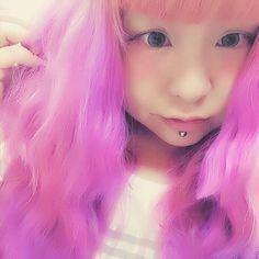 WEBSTA @ kayumush - いいかんじにふわふわ色落ち♡#前髪だけ謎のサーモンピンク#きょうのかゆこ#マニックパニック