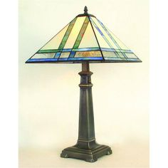 J Devlin Table Lamp 370, Mission Style Stained Glass Table Lamps View all J.Devlin table lamps at http://www.sweetheartgallery.com/collections/j-devlin-stained-glass-art-table-lamps