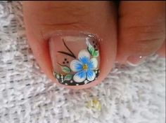 Uñas decoradas Pedicure Designs, Pedicure Nail Art, Toe Nail Designs, Toe Nail Art, New Nail Art Design, Creative Nail Designs, Creative Nails, Cute Toe Nails, Pretty Nails