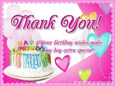 44 Best Thank You For Birthday Wishes Images