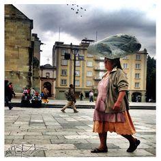 Doña en el Zocalo de Oaxaca