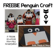freebie penguin craft