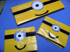 Boys minion despicable me duck tape wallet (check my other listings for woman's minion wallet) on Etsy
