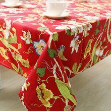 Toalha de mesa de natal toalha de mesa 100% algodão casaco de tecido pano artesanal tampa de tabela travesseiro têxtil lar Patchwork estampado Floral(China)
