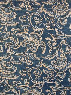 Japanese Indigo Katazome Textile Prints, Textile Patterns, Textile Design, Fabric Design, Print Patterns, Japanese Textiles, Japanese Fabric, Japanese Prints, Japanese Art