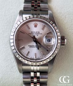 A stunning example of the Datejust model, this stainless steel Rolex is understated and drop dead gorgeous. Along with the classic jubilee bracelet, this watch also features a silver dial.