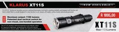 The Klarus is able to monitor its own internal temperature and adjust the output to provide the maximum lumen output. This, in turn, protects the LEDs and the components inside to ensure safety, stability and optimum performance. Torches, Torch Light, Red Led, Led Flashlight, Stability, South Africa, Monitor, Safety, Amazing