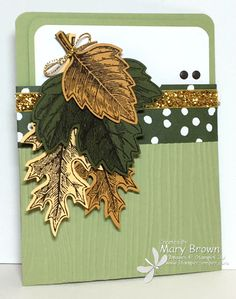stampercamper.com - SUO133 - The SUO challenge this time is to make a pocket card.  There are so many different why to go with this...I went pretty simple.  The leaves are actually attached to my inside card and hang out over the pocket.  All the details and open view on my blog.  Sets:  Vintage Leaves, Lighthearted Leaves